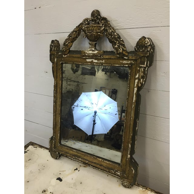 19th Century French Carved and Painted Mirror - Image 5 of 6