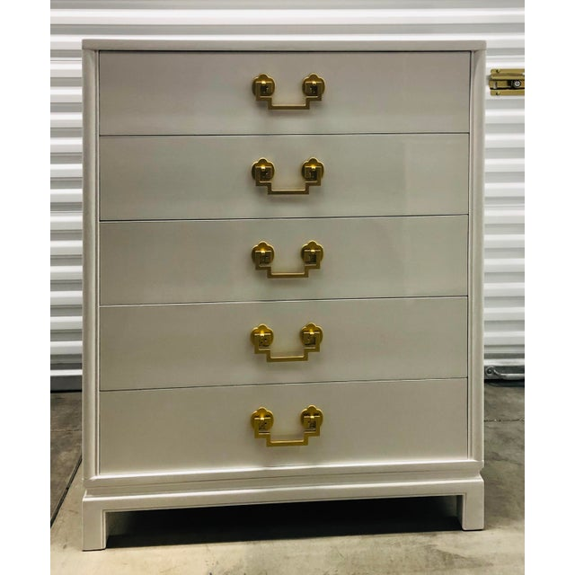 Chinoiserie Style Ribbon Mahogany High Gloss Dresser by Landstrom Furniture For Sale - Image 10 of 10