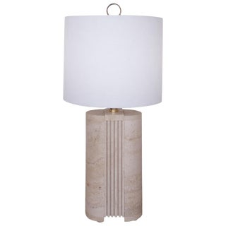Travertine Lamp by Fratelli Manelli, Italy, 1970s For Sale