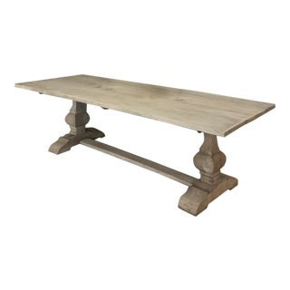 Antique Double Pedestal Banquet Table For Sale