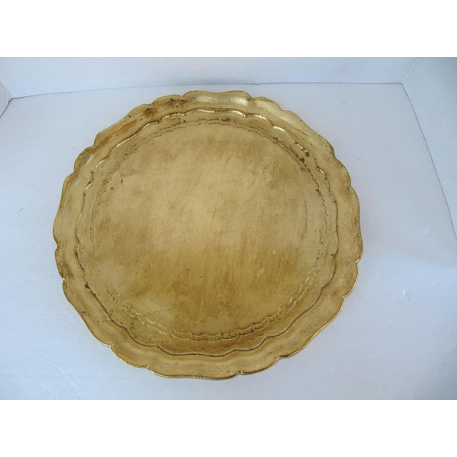 Gold Italian Tray For Sale - Image 4 of 4