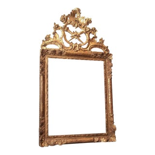 Large, 18c Louis XV Giltwood Mirror For Sale