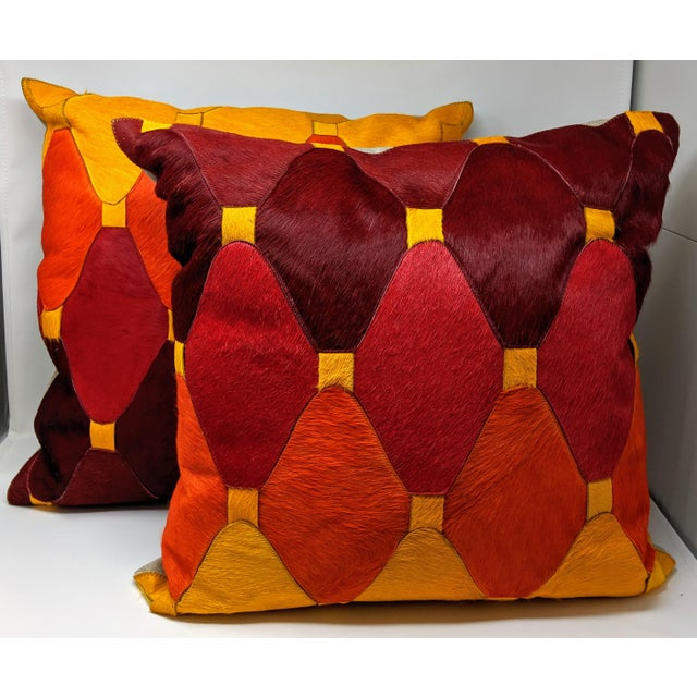 Jonathan Adler Cowhide Moroccan Pillow For Sale - Image 4 of 9