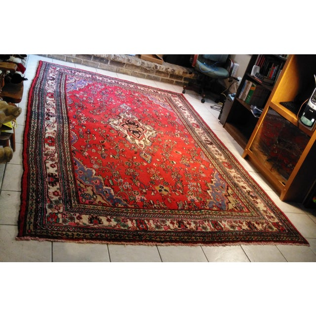 Hand Knotted Persian Area Rug - 5'11 x 10'3 - Image 2 of 11