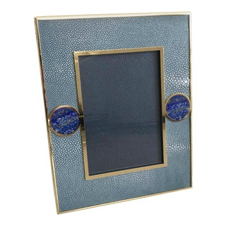 Blue Shagreen With Lapis Lazuli Photo Frame by Fabio Ltd For Sale