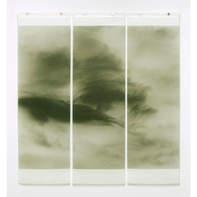 """Jeri Eisenberg """"Songs of the Sky, Revisited, No.9"""" Pigment ink on kozo with encaustic."""