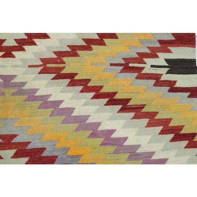 Vintage Turkish Kilim Rug For Sale - Image 9 of 13