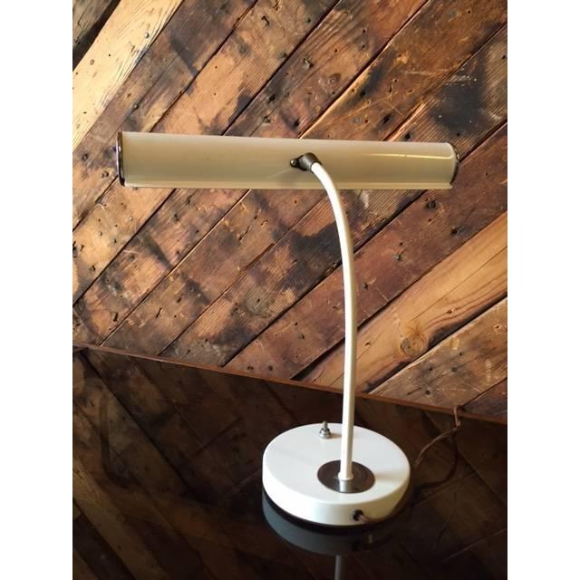 Vintage White Chrome Task Lamp - Image 4 of 6