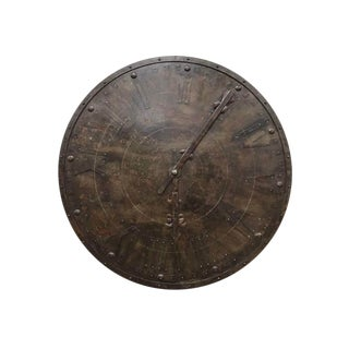 Large Display 5 Ft French Metal Wall Clock Face For Sale