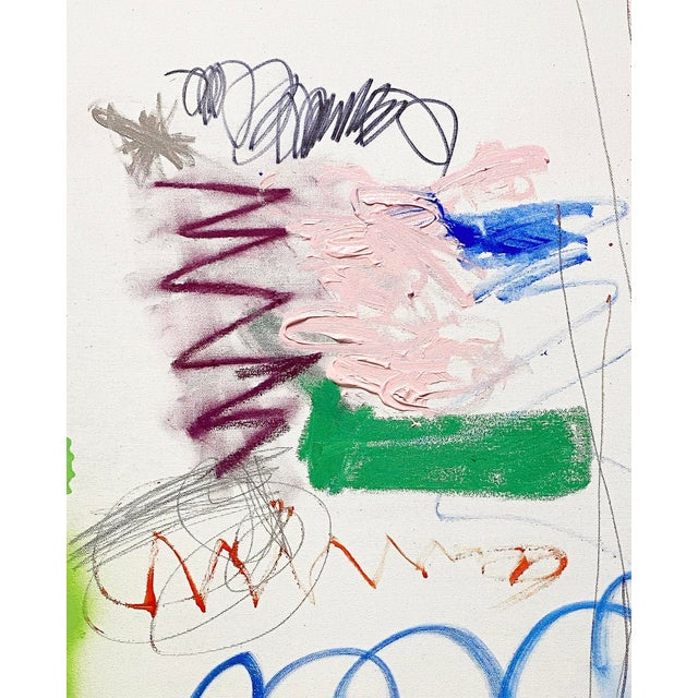 Abstract Lesley Grainger 'Out Riding My Bike' Original Abstract Painting For Sale - Image 3 of 4