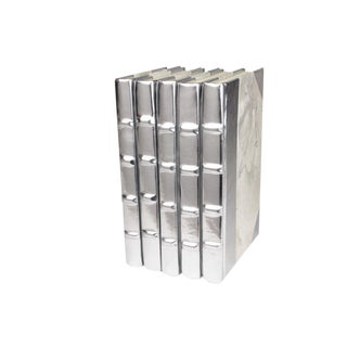 Silver Metallic Book Collection - Set of 5