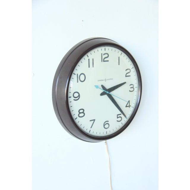 Large Vintage Mid-Century Industrial School House Clock - Image 2 of 5