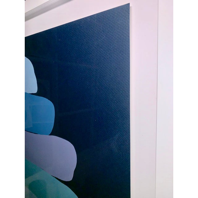 Blue Stephanie Henderson Cairn in Moody Blues Original Painting For Sale - Image 8 of 9
