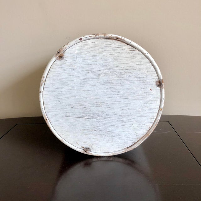 Boho Chic White Pencil Reed Rattan Planter For Sale - Image 3 of 4