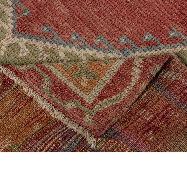 Vintage Red Turkish Area Rug 3'x5' For Sale - Image 4 of 5