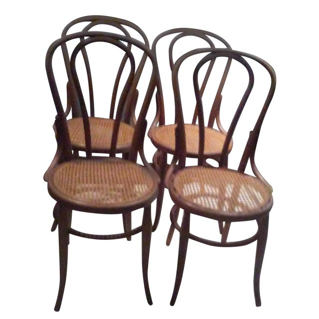 Vintage Thonet Bentwood Cane Chairs - 4 - Image 1 of 11