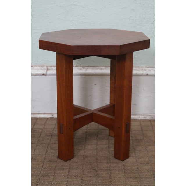 Store Item #: 10017 Stickley Mission Style Cherry Octagon Small Side Table Taboret Stand (B) AGE/COUNTRY OF ORIGIN: Approx...