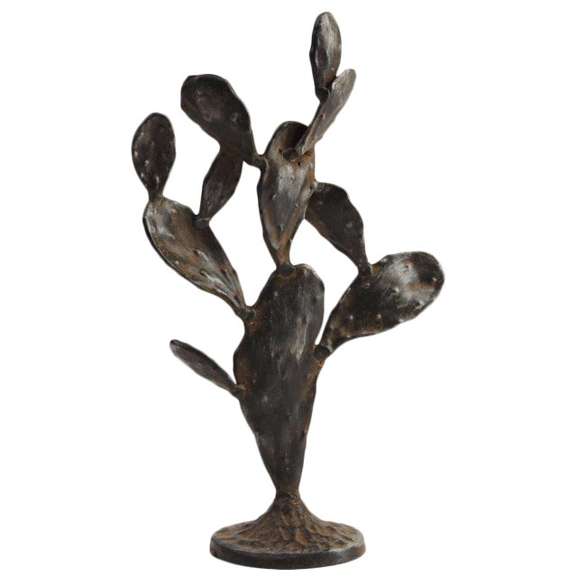 Metal Cactus Sculpture For Sale In Palm Springs - Image 6 of 6