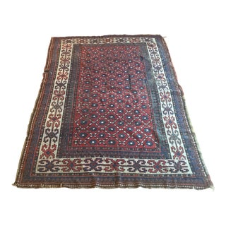 "Antique Distressed Persian Rug 7'1"" x 4'10"" For Sale"