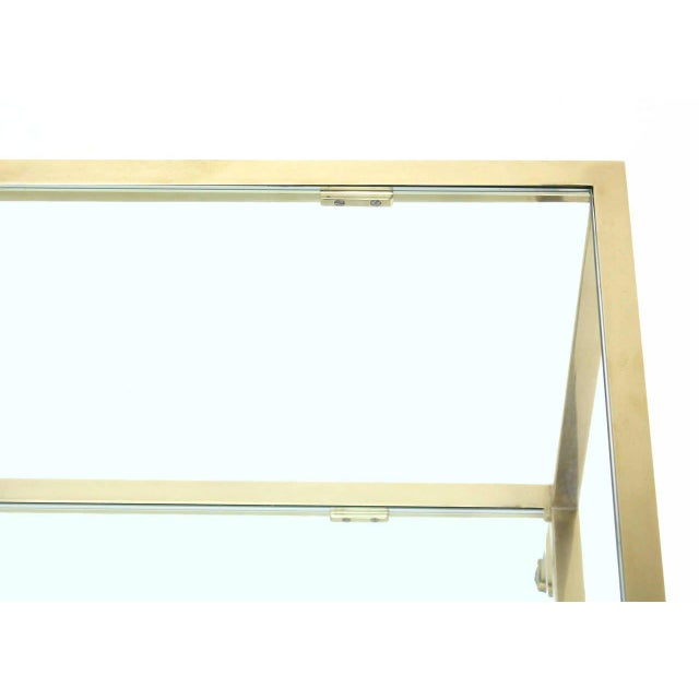 Solid Brass Tube Rectanglar Coffee Table For Sale - Image 4 of 7