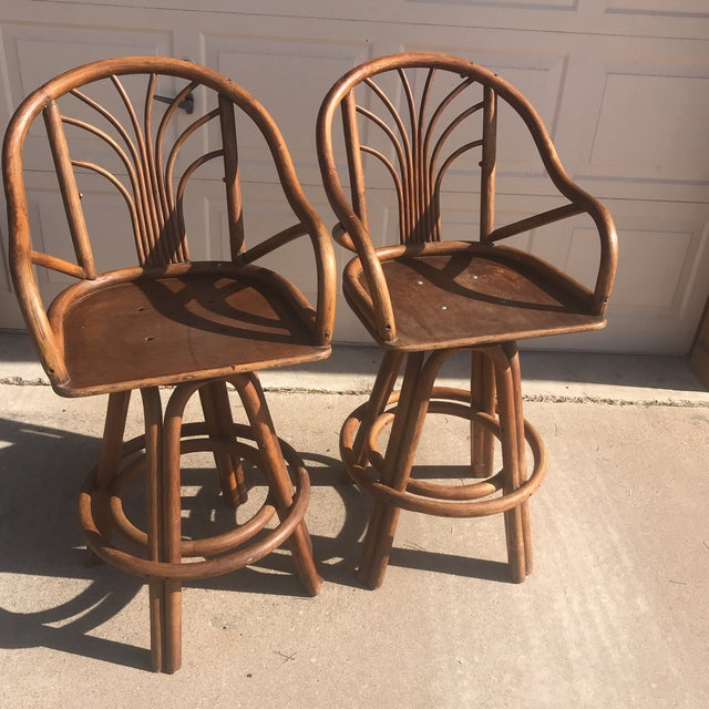 1960s Bentwood Swivel Bar Stools - a Pair - Image 7 of 8