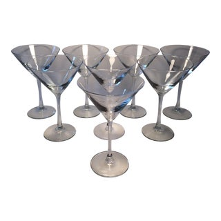 Vintage Crystal Martini Glasses - Set of 8