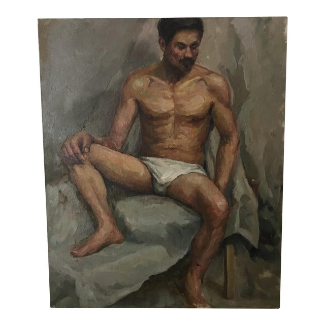 Male Nude Portrait Painting For Sale