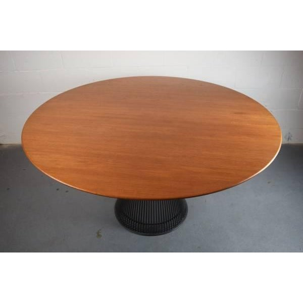 Warren Platner for Knoll Bronze and Teak Table - Image 4 of 8