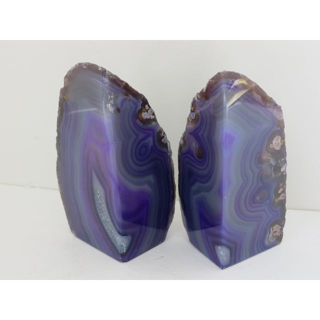 Purple Geode Bookends - A Pair - Image 5 of 7