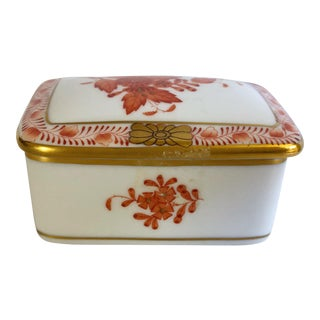 Herend Rust Chinese Bouquet Box