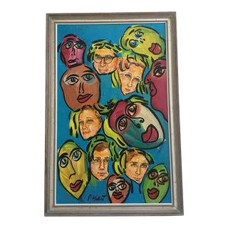 Abstract Peter Keil Painting For Sale