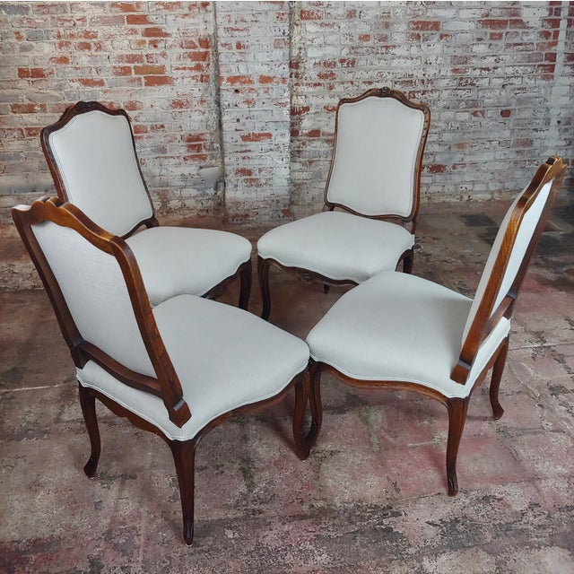 "French Provincial Country Style oversized Dining Chairs - Set of 4. size 23 x 24 x 42"" seat height 19"" Early 20th-century..."