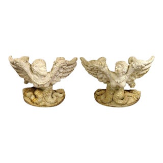 Pair Marble Consoles - Italian For Sale
