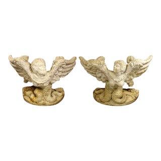 Pair Marble Consoles - Italian