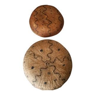 Vintage Yanomami Tribal Handmade Baskets - a Pair