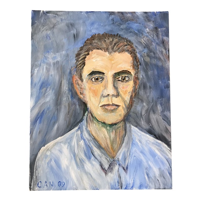 Hand Painted Portrait of a Man For Sale