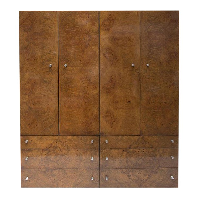 Thayer Coggin Olive Burl Wood Double Armoire - Image 1 of 10