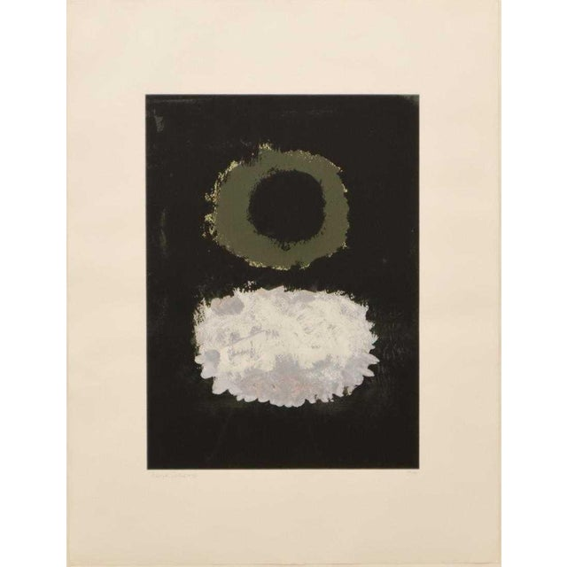 "Adolph Gottlieb, American, 1903-1974. Serigraph on paper entitled ""Black Field"", 7/150, 1972. Signed and dated in pencil..."