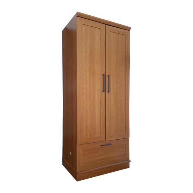 Sienna Oak Finish Wardrobe Armoire - Image 1 of 3