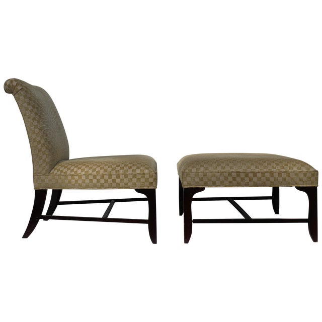 Vintage Slipper Chair & Ottoman by Barbara Barry - Image 1 of 7