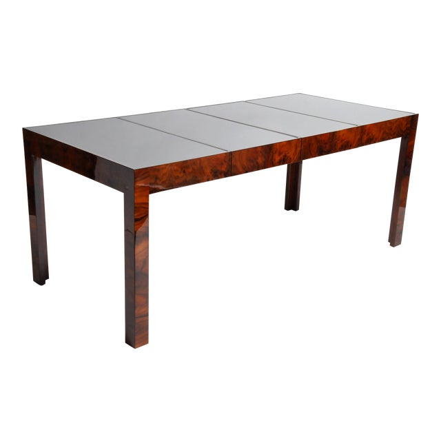 Hungarian Walnut Veneer Dining Table With Extensions For Sale