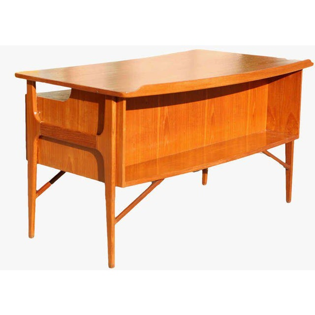 Brown Danish Teak Desk in the Style of Kai Kristiansen For Sale - Image 8 of 8