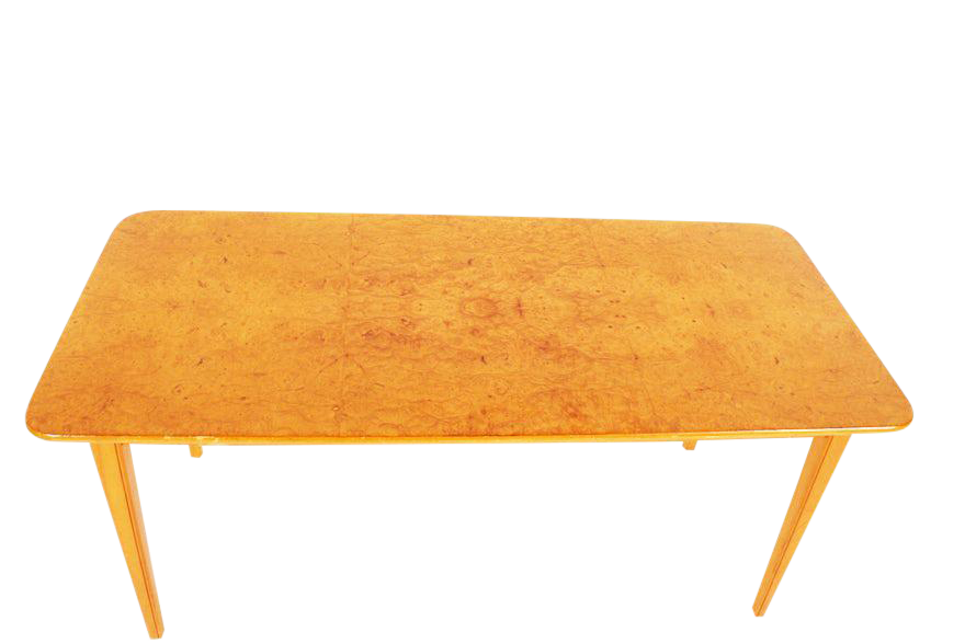 Simple Swedish Art Moderne Burlwood Coffee Table With Swedish Coffee Table