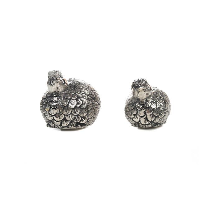 Gucci Gucci Pewter Quail Salt & Pepper Shakers For Sale - Image 4 of 9