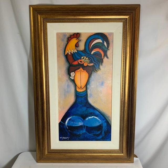Signed Cuban Giclee Artwork on Canvas, Framed For Sale - Image 11 of 11