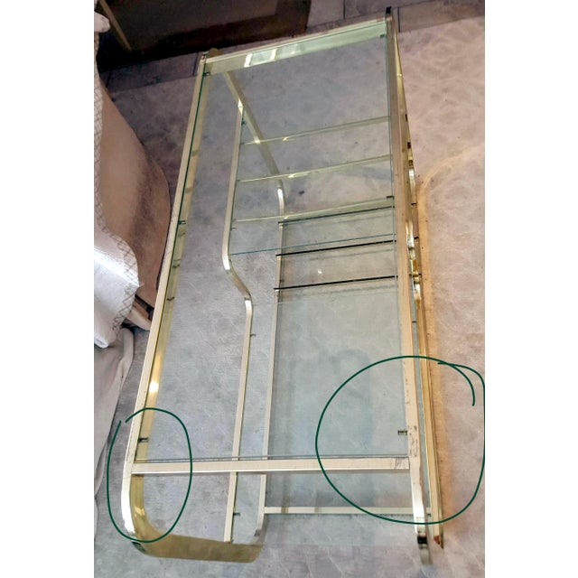 Gold 1970's Mid-Century Modern Milo Baughman Brass Etagere For Sale - Image 8 of 9