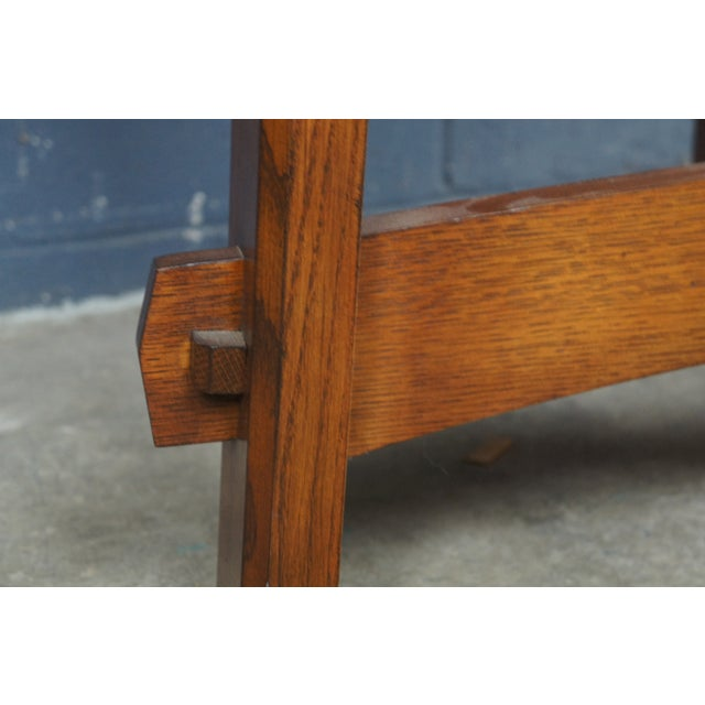 Mission Stickley Commemorative Library Center Table For Sale - Image 6 of 13