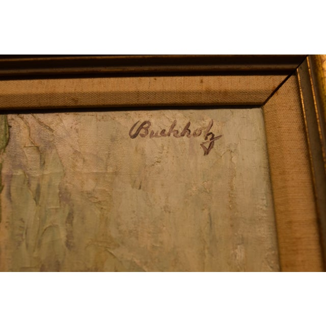 """Figurative """"White Russian"""" Signed Frederick Buchholz Impressionist Portrait Painting For Sale - Image 3 of 6"""