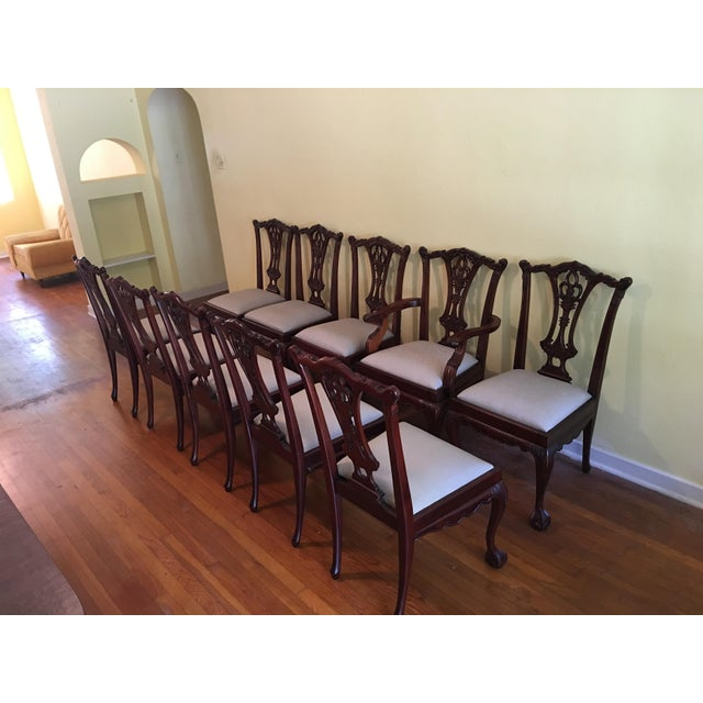 Vintage Chippendale Chairs - Set of 10 - Image 2 of 10