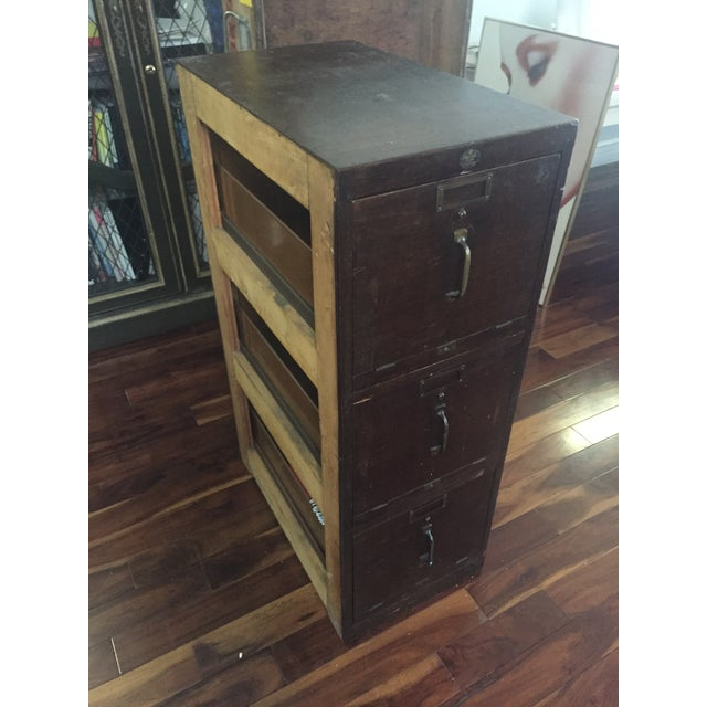 Antique Pacific Desk Co. Wooden File Cabinet - Image 5 of 6